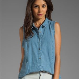 Free People Linen tunic top